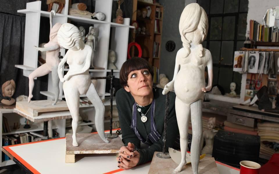 Cathie Pilkington in her studio