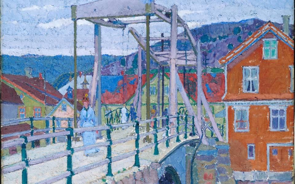 Harold Gilman, Canal Bridge, Flekkefjord, c.1913