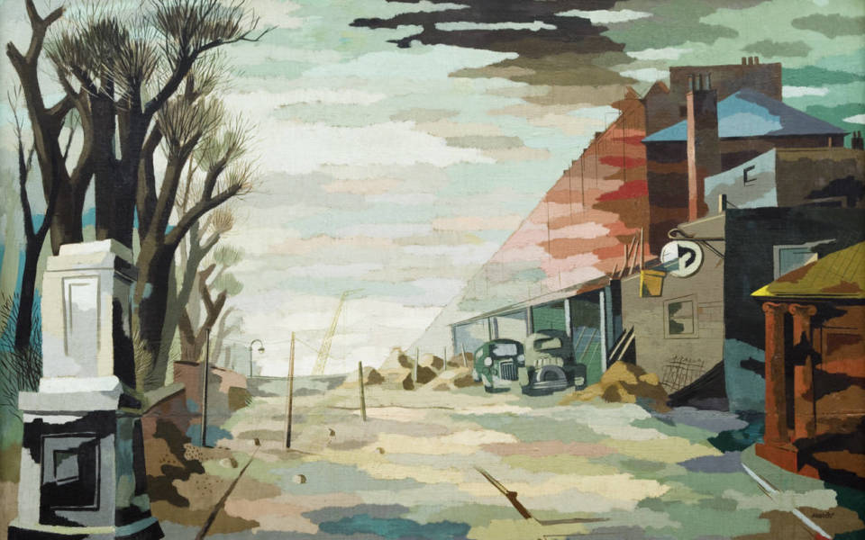 Walter Nessler, Haverstock Hill, c.1938-9, oil on board, Pallant House Gallery (On loan from a Private Collection, 2006)