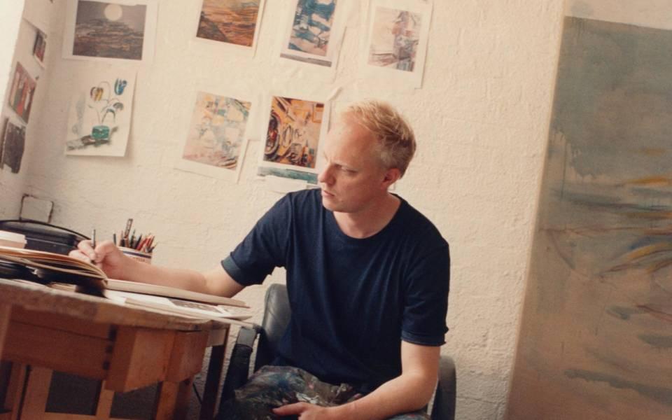 Nick Goss in his Studio, 2017, photograph: Liberto Fillo