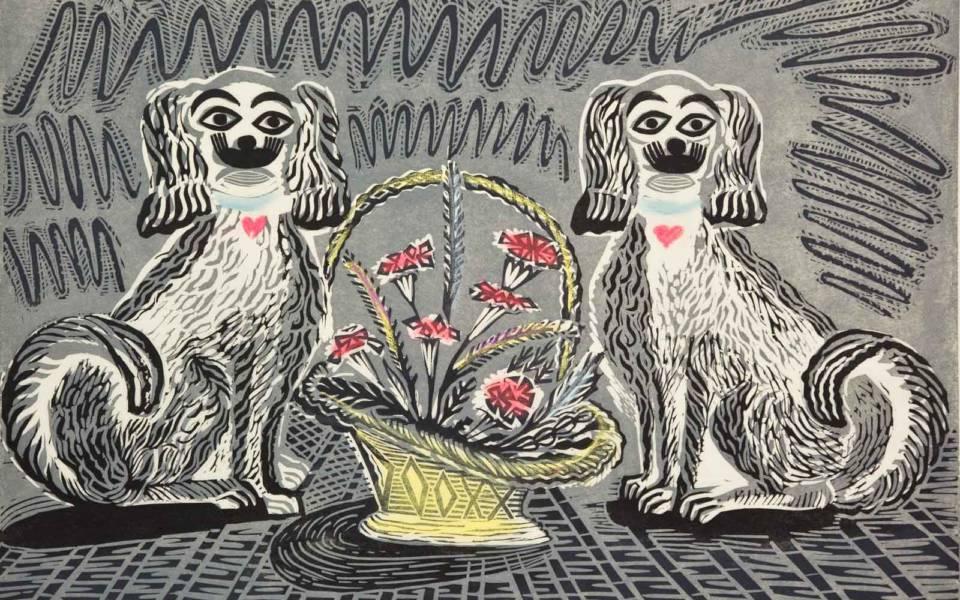 Enid Marx, Wally Dogs from Six Linocuts, Judd Street Gallery (1960)