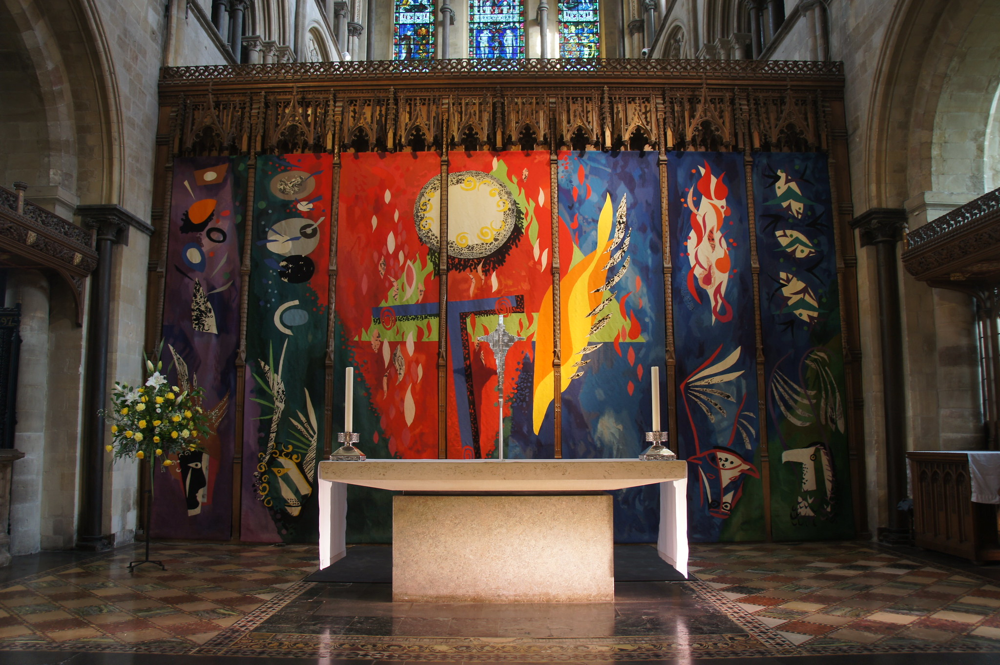 John Piper's tapestry in Chichester Cathedral, Photograph by Alwyn Ladell