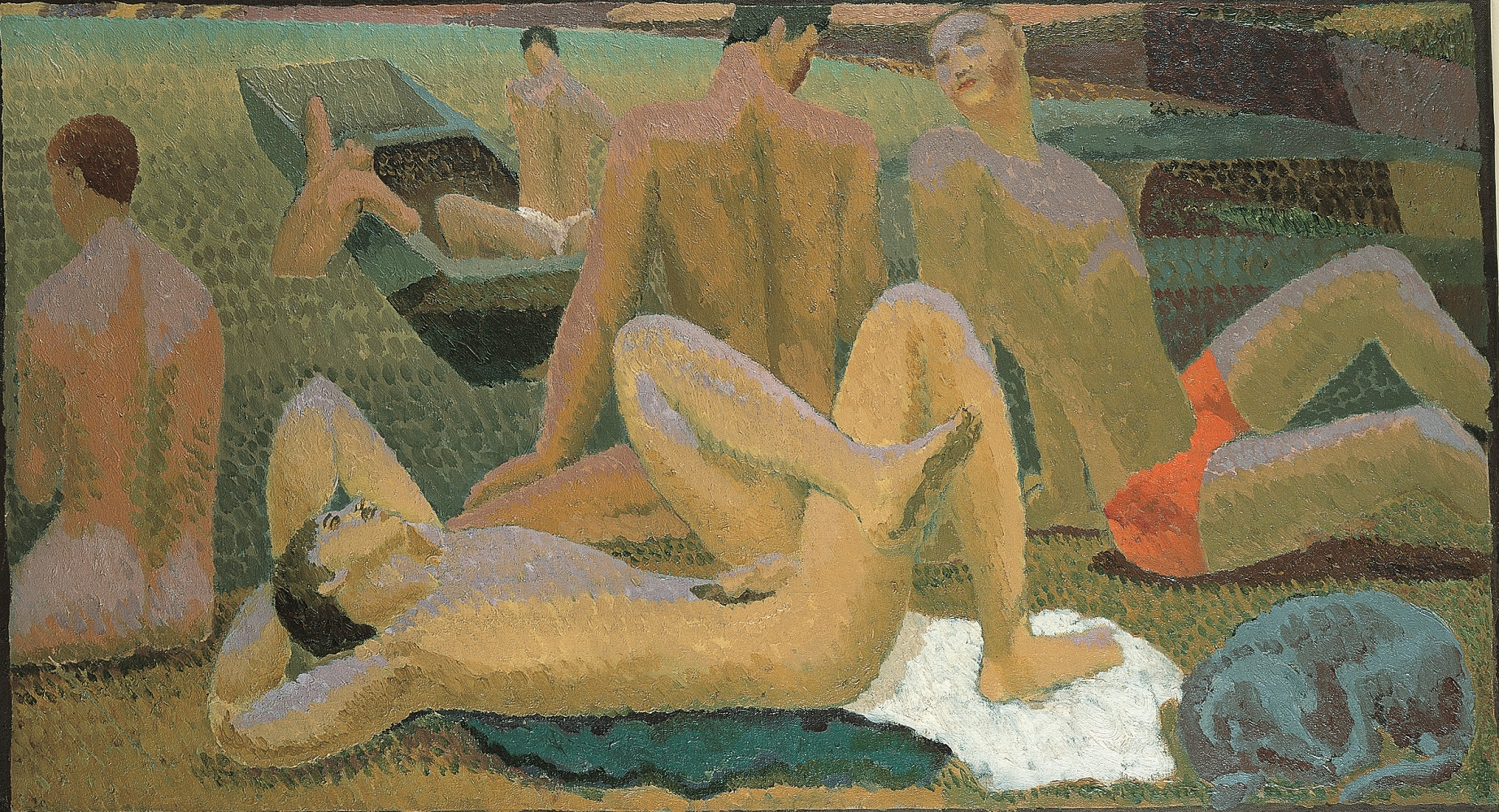 Duncan Grant, Bathers by the Pond (c.1920-1)