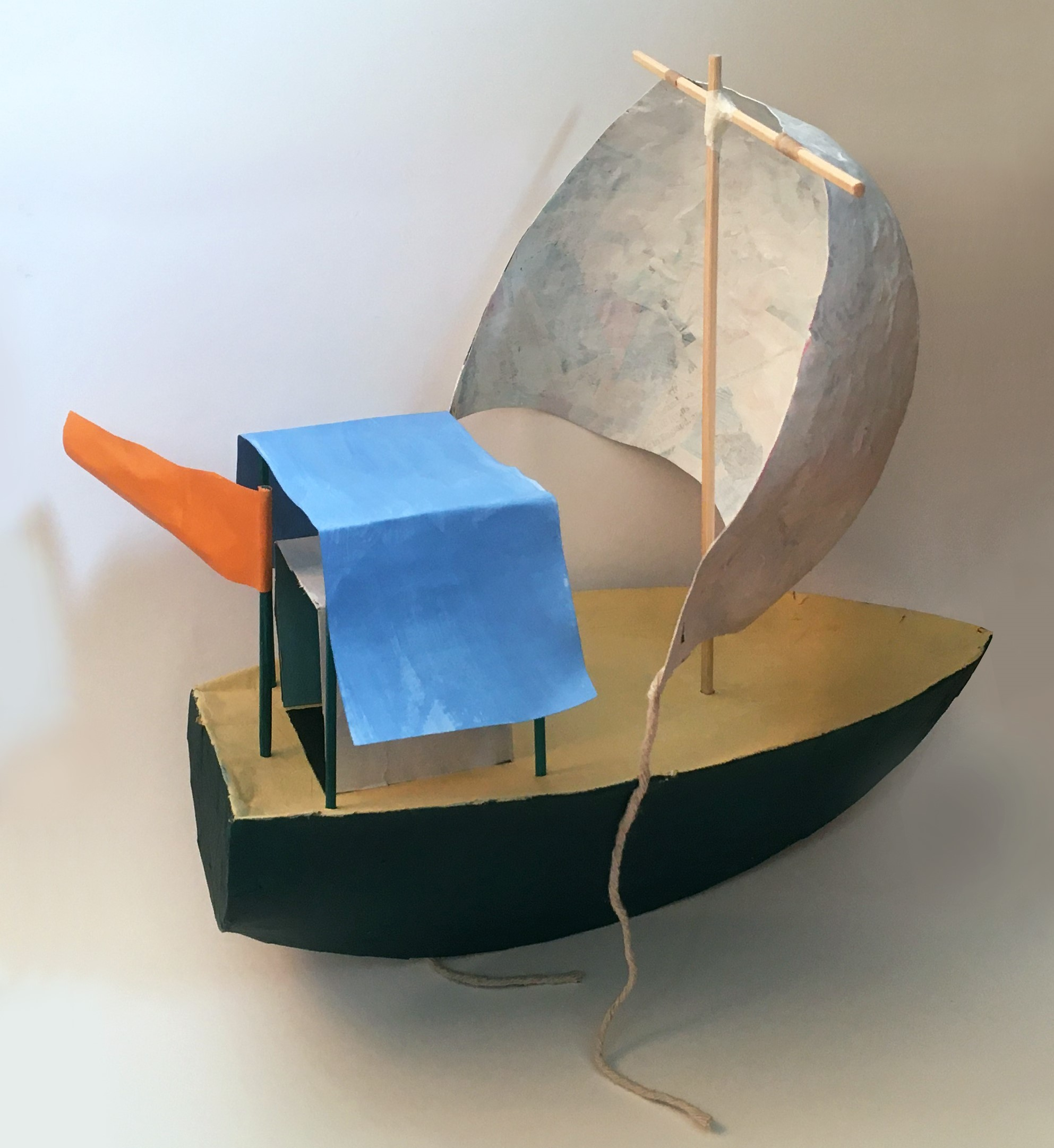 Model boat based on Victor Willing's 'Night' (1978)