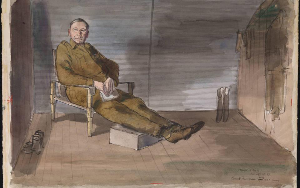 Barnett Freedman, Major C M O'Rorke: Officer Commanding 698 Company, Royal Engineers, Bef, France, 1940