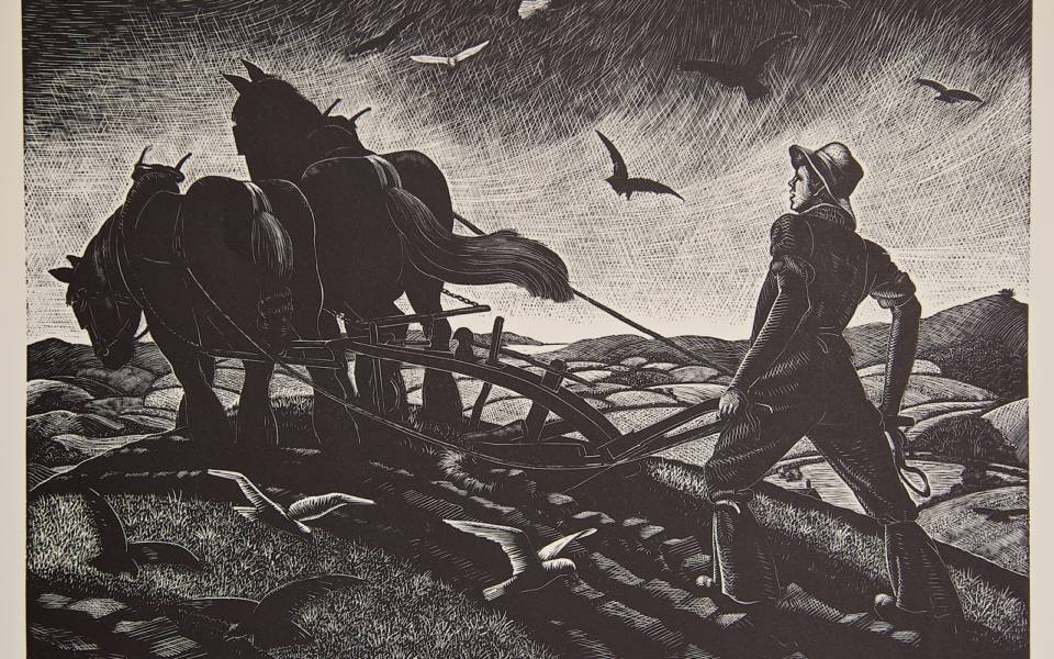 Clare Leighton, Ploughing - November from 'The Farmer's Year'