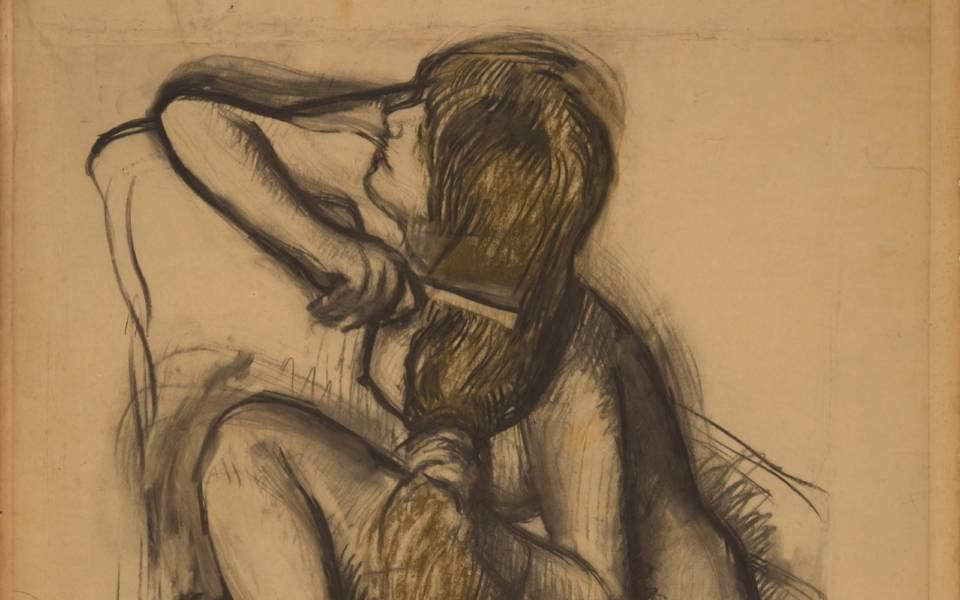 Edgar Degas, Femme se peignant (detail) (c.1887-1890)