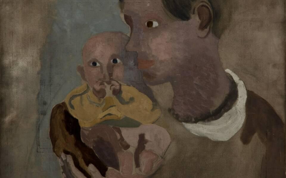 Ben Nicholson, Portrait of Winifred and Jake Nicholson