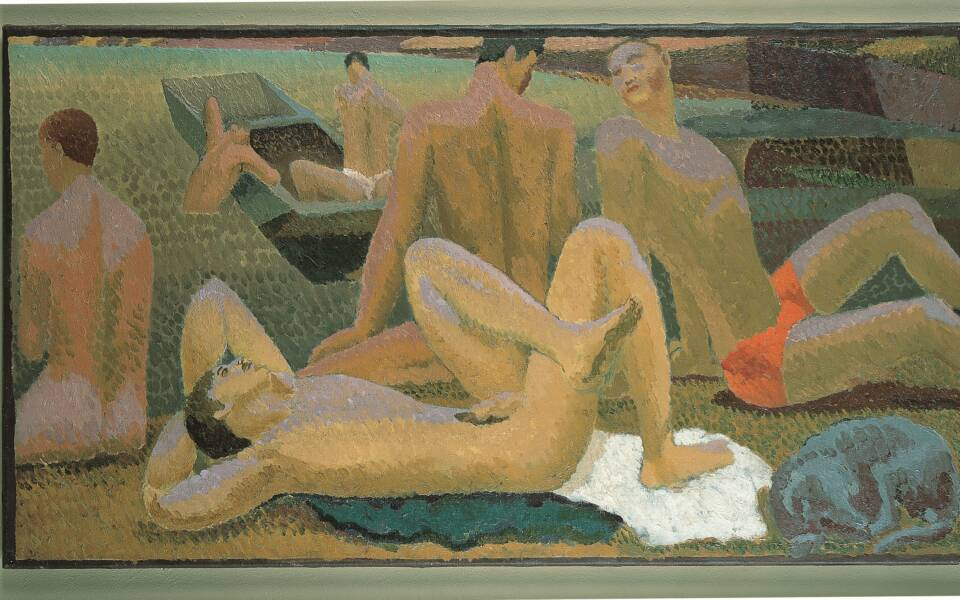Bathers by the pool 1920-1